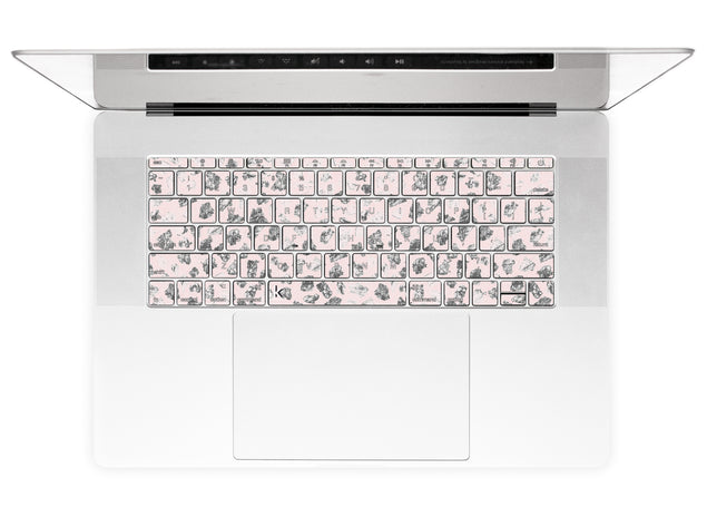 Teen Pink Terrazzo MacBook Keyboard Stickers alternate
