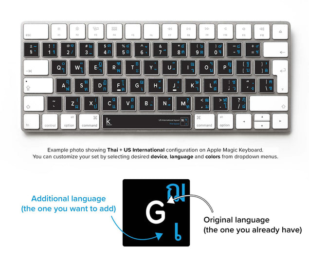 Thai Bilingual Keyboard Sticker
