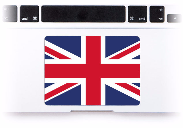 British Flag MacBook Trackpad Sticker at Keyshorts.com - 1