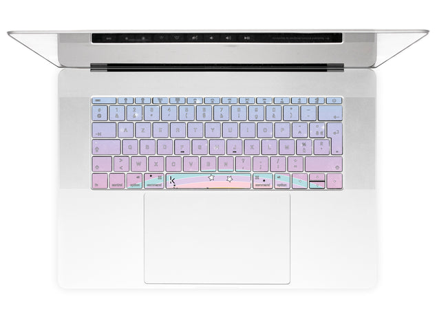 Unicornless Rainbow MacBook Keyboard Stickers alternate