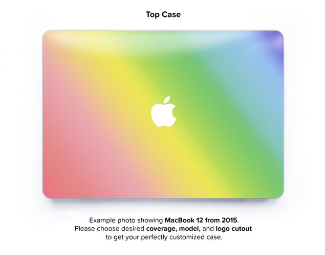 Unicorn Ombre Hard Case for MacBook 12 - top case