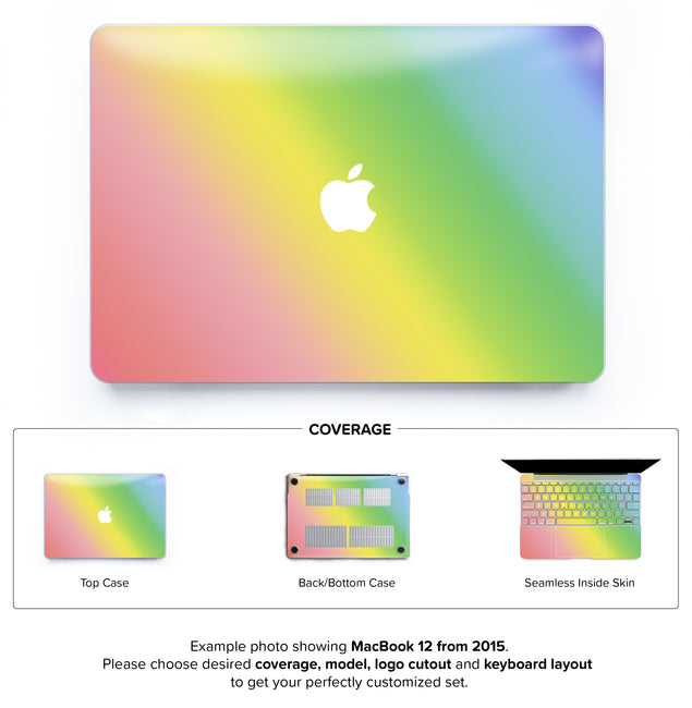 Unicorn Ombre Hard Case for MacBook 12
