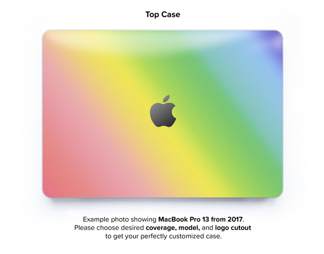 Unicorn Ombre Hard Case for MacBook Pro 13 with TouchBar - top case