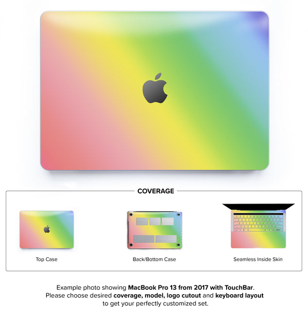 Unicorn Ombre Hard Case for MacBook Pro 13 with TouchBar
