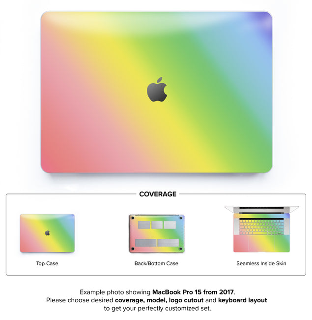Unicorn Ombre Hard Case for MacBook Pro 15 with TouchBar
