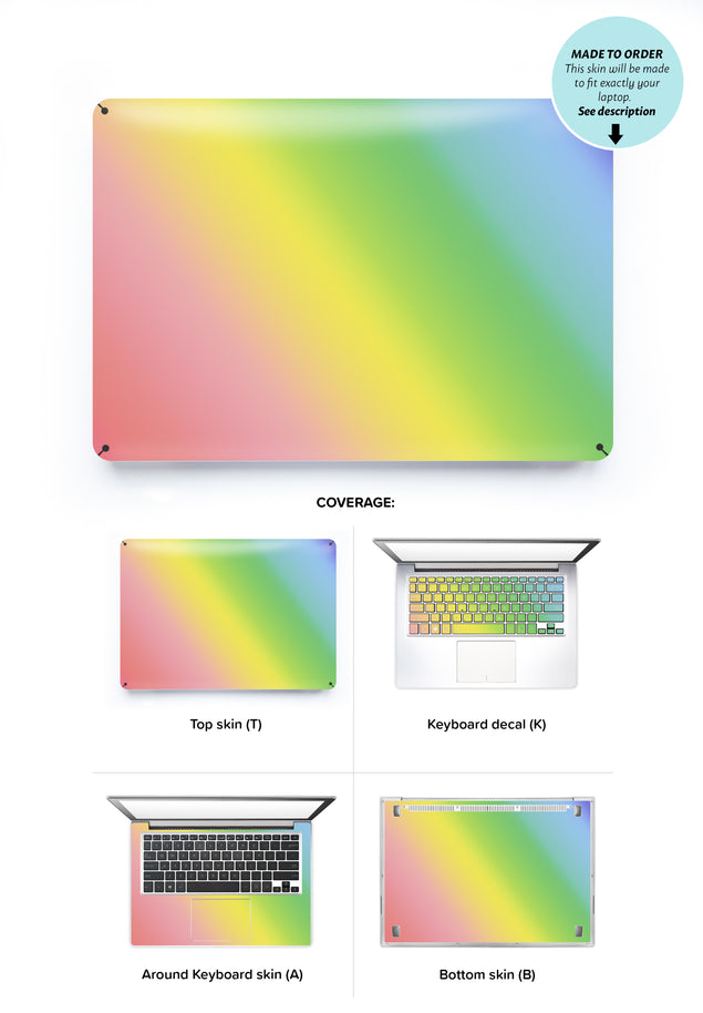 Unicorn Ombre Laptop Skin