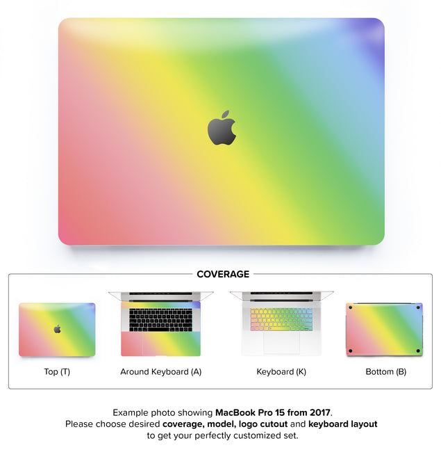 Unicorn Ombre MacBook Skin
