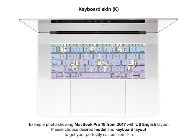 Unicorn Galaxy MacBook Skin - keyboard stickers