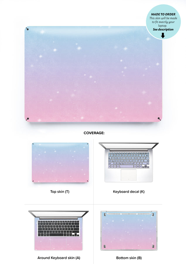 Unicorn Sky Laptop Skin