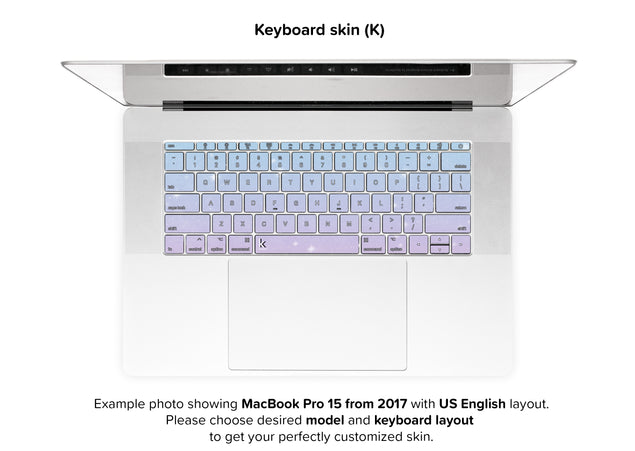 Unicorn Sky MacBook Skin - keyboard stickers