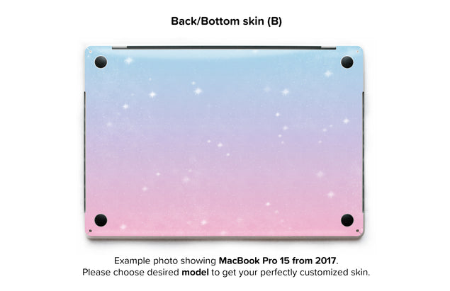 Unicorn Sky MacBook Skin - back skin