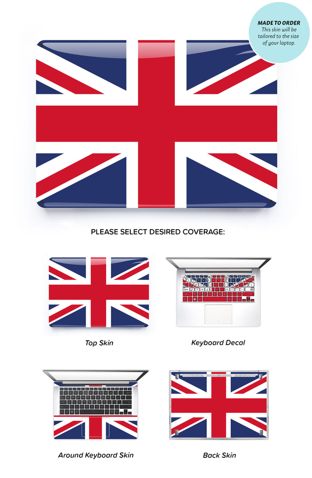 Union Jack Flag Laptop Skin