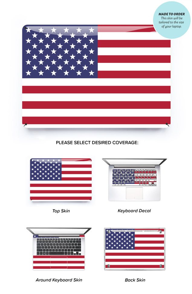 USA Flag Laptop Skin