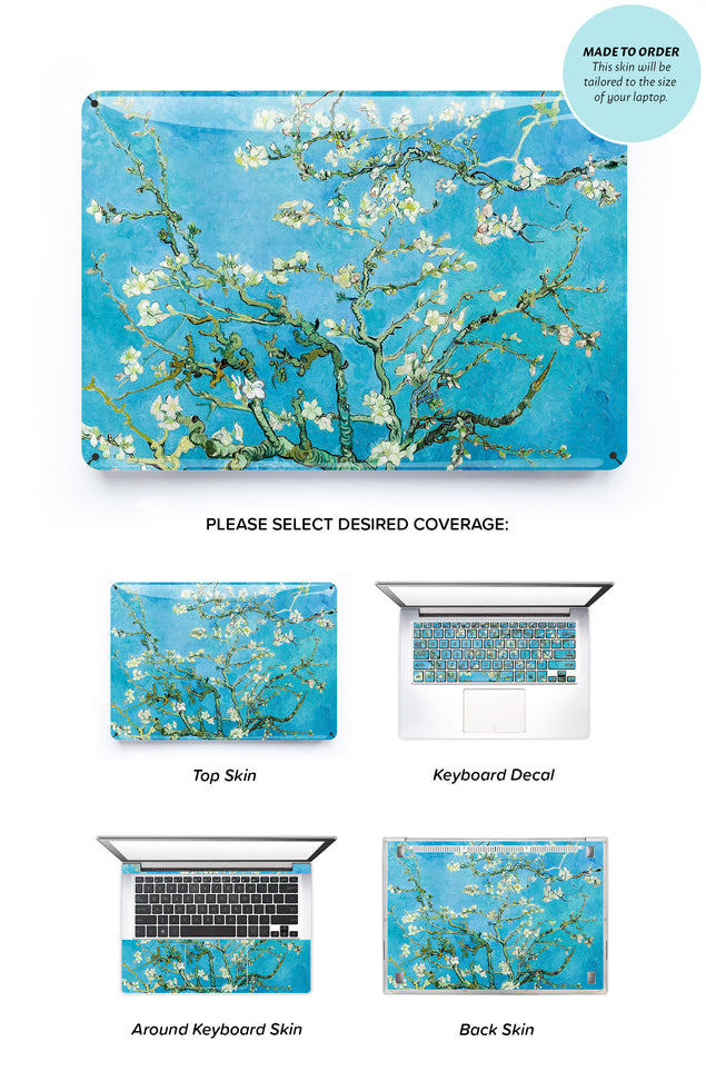 Van Gogh Blossoming Almonds Laptop Skin