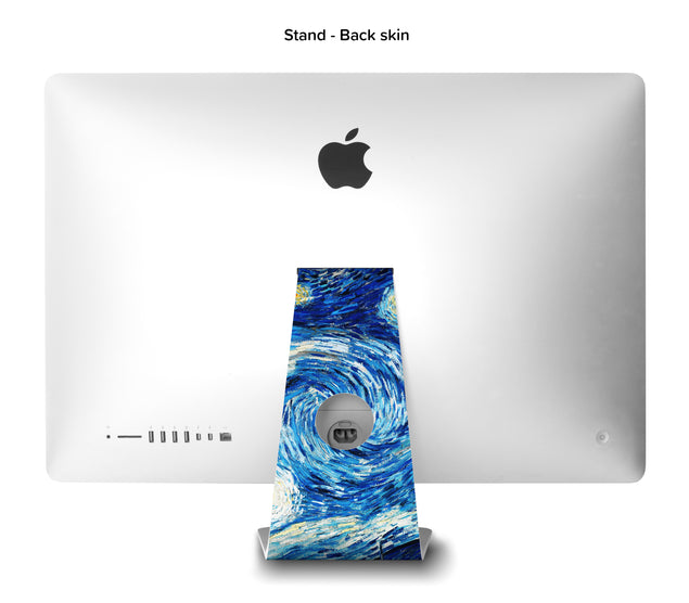 Van Gogh Starry Night iMac Skin - back stand skin