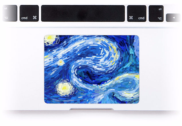 Van Gogh Dreams 2 MacBook Trackpad Sticker at Keyshorts.com - 1