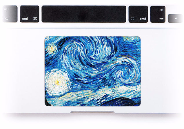 Van Gogh Dreams MacBook Trackpad Sticker at Keyshorts.com - 1