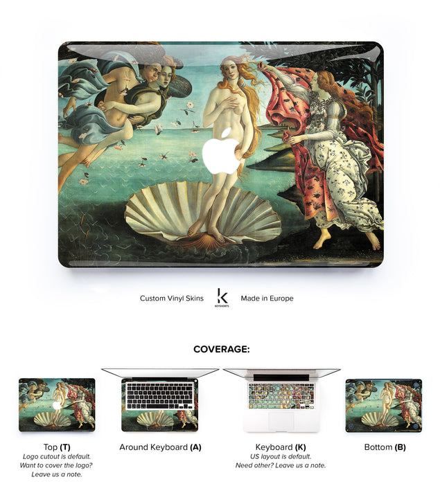Birth of Venus MacBook Skin at Keyshorts.com