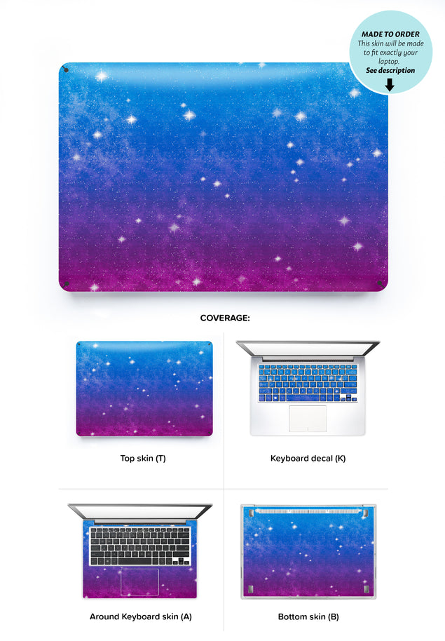 Vintage Galaxy Laptop Skin