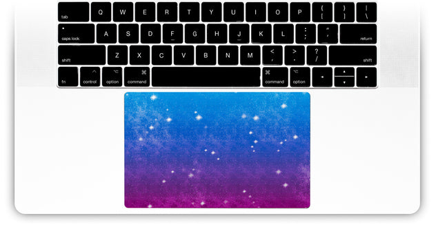 Vintage Galaxy MacBook Trackpad Sticker