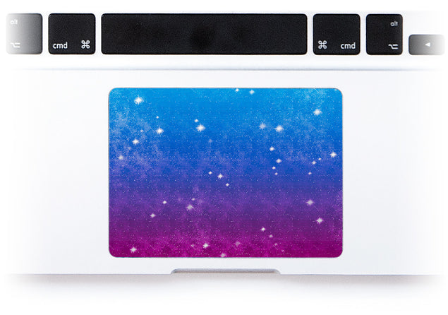 Vintage Galaxy MacBook Trackpad Sticker alternate
