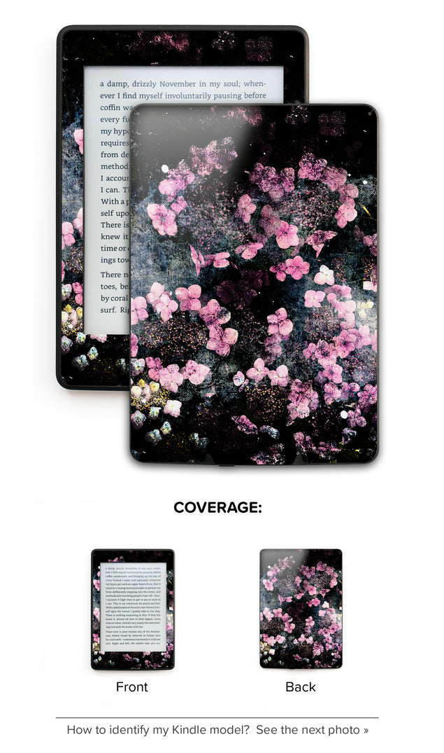Wabi Sabi Flowers Kindle Skin