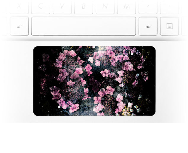 Wabi Sabi Flowers Laptop Trackpad Sticker