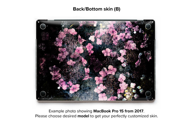Wabi Sabi Flowers MacBook Skin - back skin