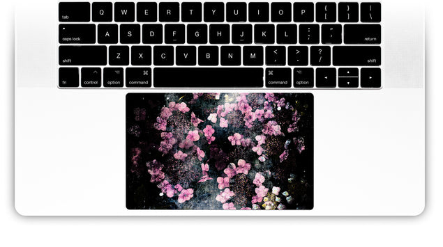 Wabi Sabi Flowers MacBook Trackpad Sticker