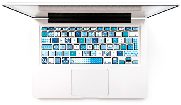 Washi Ocean MacBook Keyboard Decal at Keyshorts.com