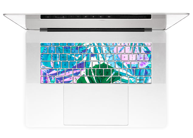 Watercolor Jungle MacBook Keyboard Stickers alternate