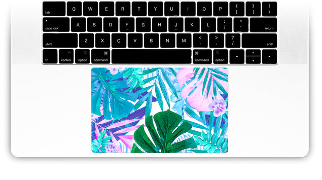 Watercolor Jungle MacBook Trackpad Sticker