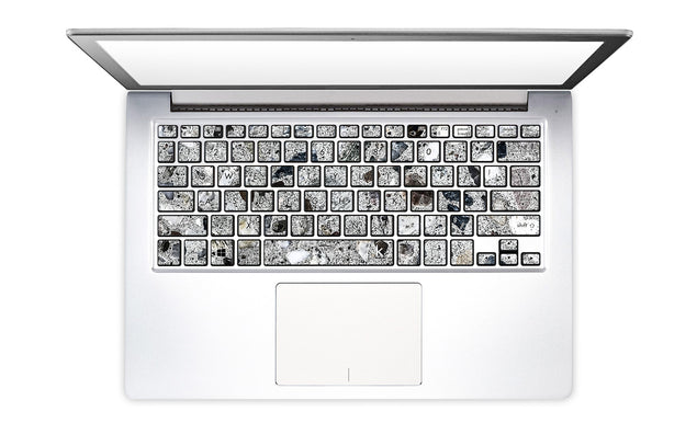 Watercolor Terrazzo  Laptop Keyboard Stickers