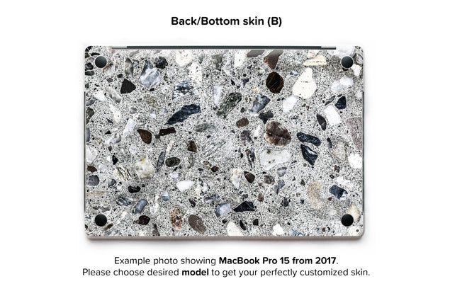 Watercolor Terrazzo  MacBook Skin - back skin