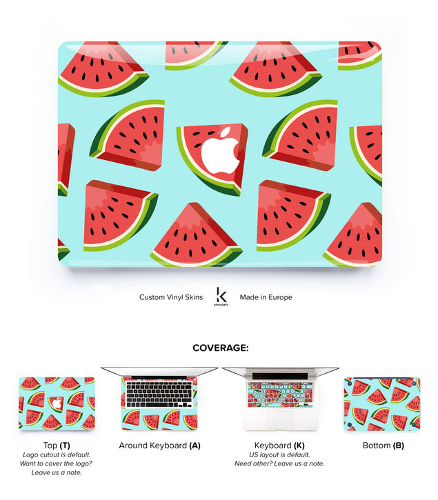 Cartoon Watermelons MacBook Skin at Keyshorts.com