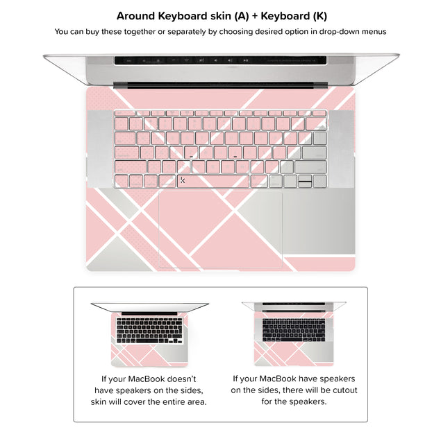 Weekend Avenue MacBook Skin - around keyboard skin
