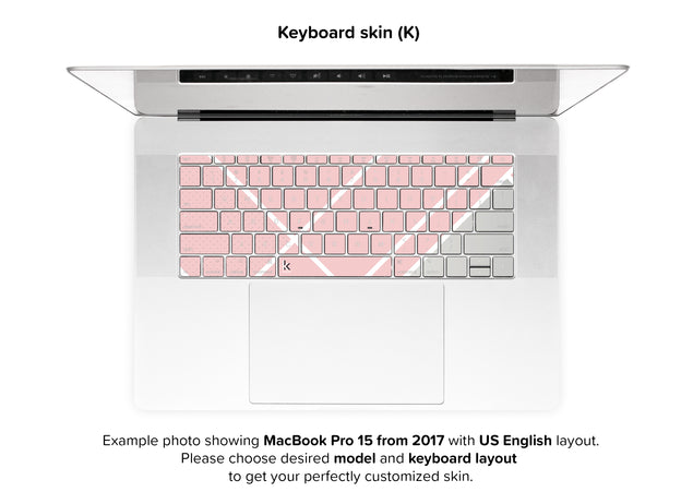Weekend Avenue MacBook Skin - keyboard stickers