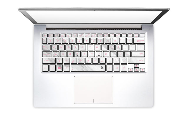 Welcoming Marble Laptop Keyboard Stickers