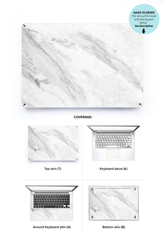 Welcoming Marble Laptop Skin