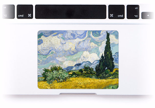 Wheat field with Cypress Tree MacBook Trackpad Sticker at Keyshorts.com