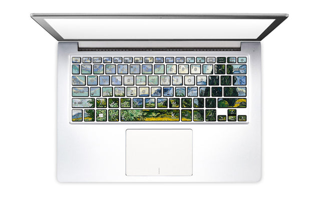 Wheat Field with Cypress Laptop Keyboard Decal
