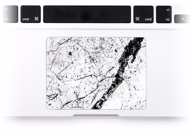 White Brani Marble MacBook Trackpad Sticker