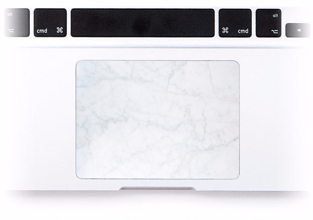 White Marble MacBook Trackpad Sticker at Keyshorts.com