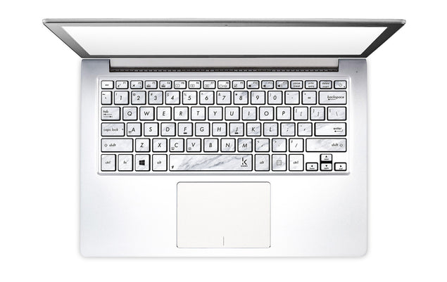 Carrara White Marble Laptop Keyboard Decal