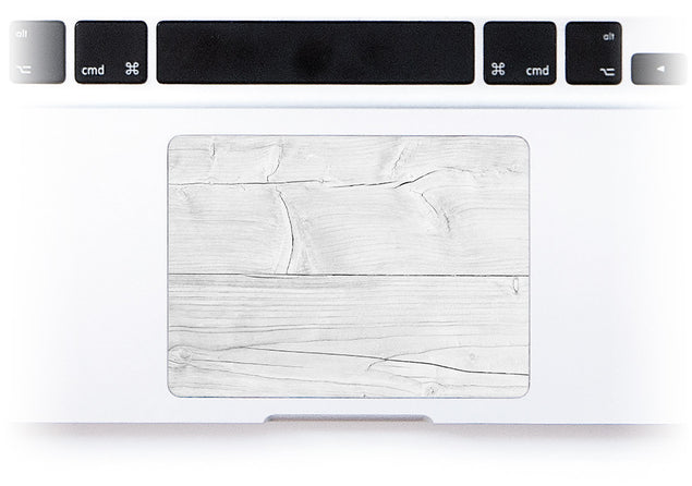 Bleached Wood MacBook Trackpad Sticker at Keyshorts.com