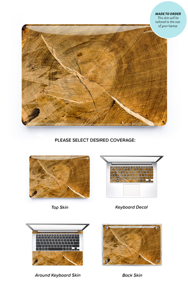 Wood Trunk Laptop Skin