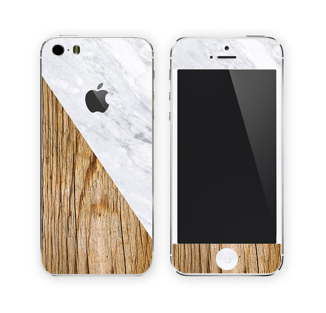 Wood Marble iPhone Skin at Keyshorts.com