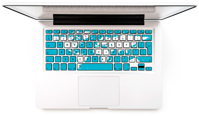 World Map MacBook Keyboard Decal at Keyshorts.com