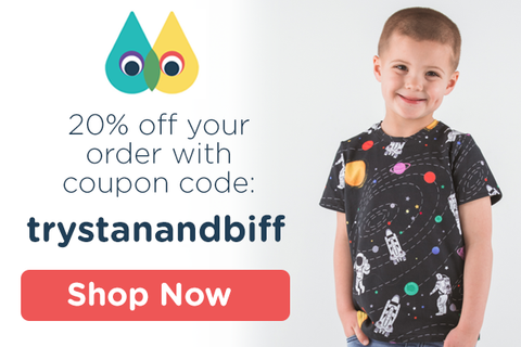 Shop Mitz Kids and get 20% off with coupon code trystanandbiff