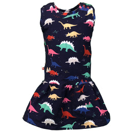 Dino Roar - Herbivore Jurassic Classic Dinosaur Sleeveless Dress